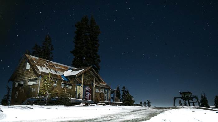 abandoned Iron Mountain Ski Resort in the Sierras.