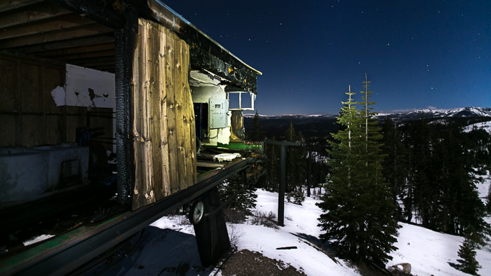 The abandoned Iron Mountain Ski Lift in California's Sierras near Lake Tahoe.
