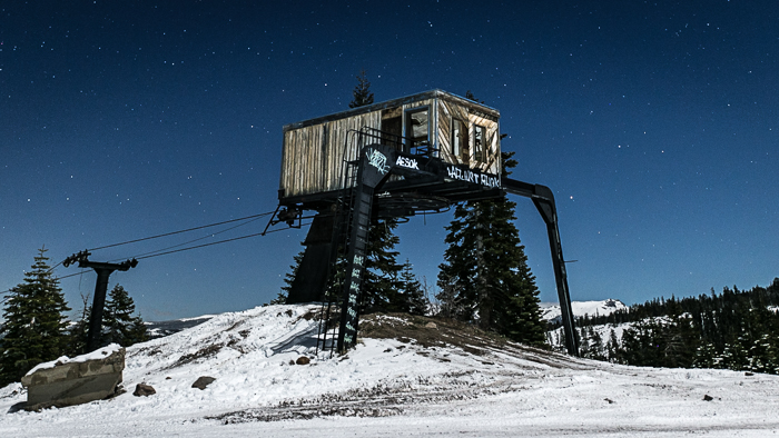 Iron Mountain ski resort sits abandoned near Kirkwood Ski Resort on California's Highway 88 in the Sierras.