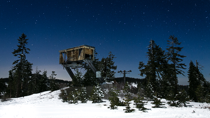 The Iron Mountain abandoned ski resort in northern California.