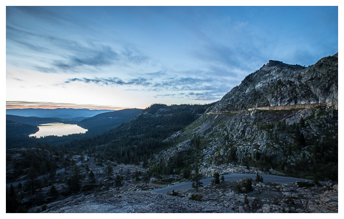 The abandoned Summit Tunnels, railroad tunnels above Donner Lake through the Sierras.