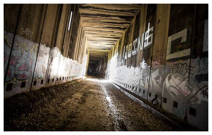 abandoned train tunnels, The Summit Tunnels, through the Sierras in California.