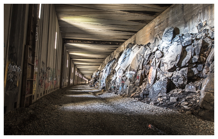 The abandoned Summit Tunnels, a railroad tunnel through California's High Sierras.