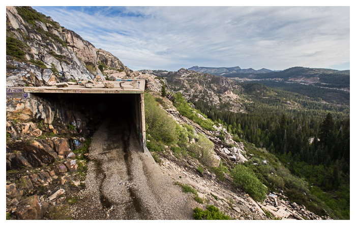 abandoned Summit Train Tunnels in the Sierras.