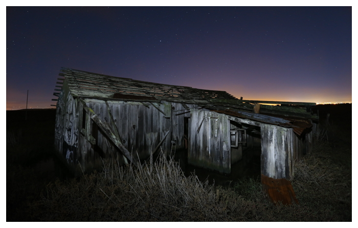 the abandoned ghost town of Drawbridge, located in the San Francisco Bay near Fremont and San Jose.