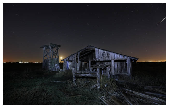 abandoned Drawbridge Ghost Town in the San Francisco Bay.