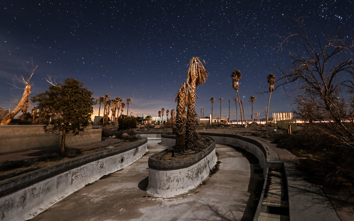 abandoned amusement park in California's Mojave Desert.
