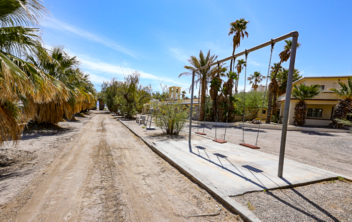 ZZyzx Mineral Springs, an abandoned community in California's Mojave Desert.