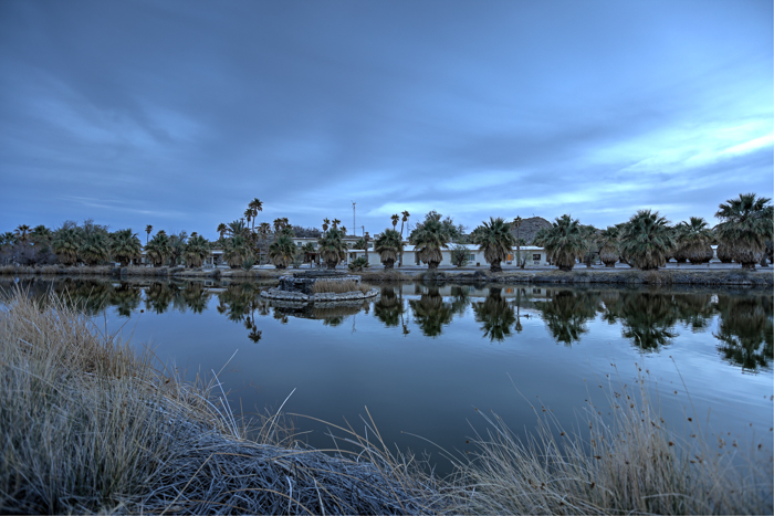 ZZyzx Mineral and Hot Springs, an abandoned resort community and travel destination in California's Mojave Desert.