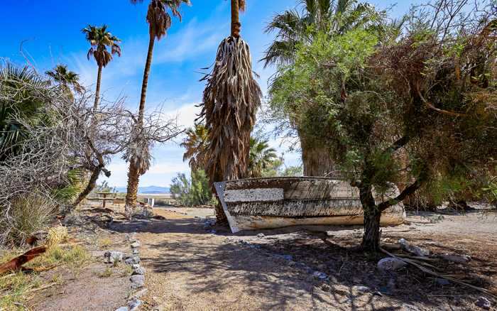 ZZyzx Mineral Springs, an abandoned travel destination in California's Mojave Desert.