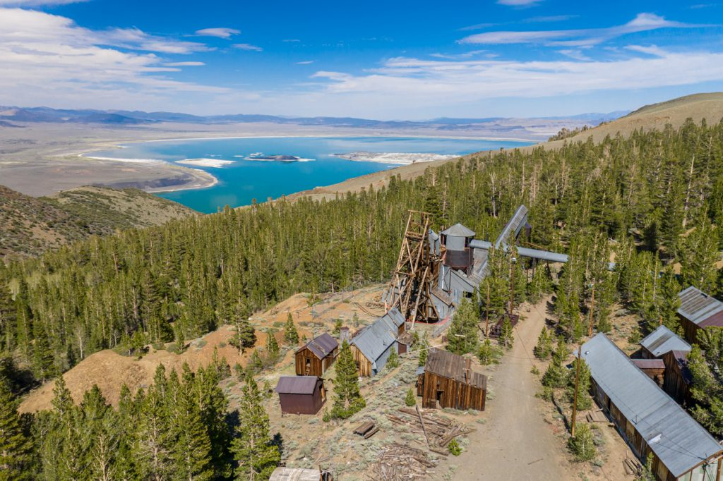 abandoned Log Cabin gold mine: Lee Vining, Mono County, California