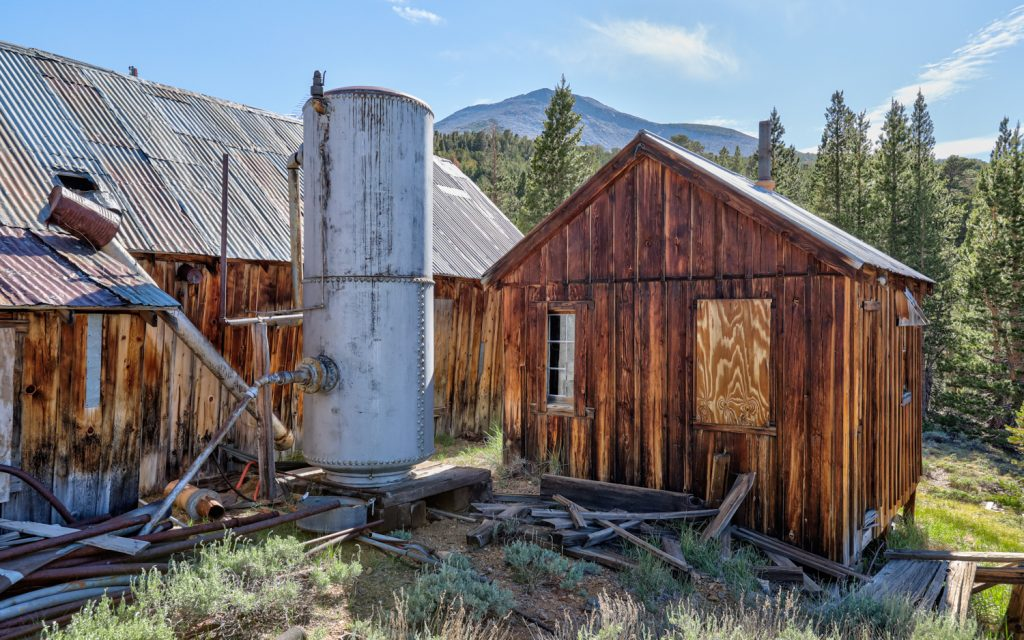 Log Cabin gold mine ghost town; california